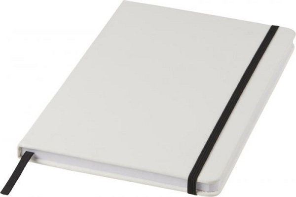 Spectrum A5 white notebook with coloured strap